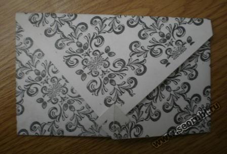 японский конверт с орнаментом