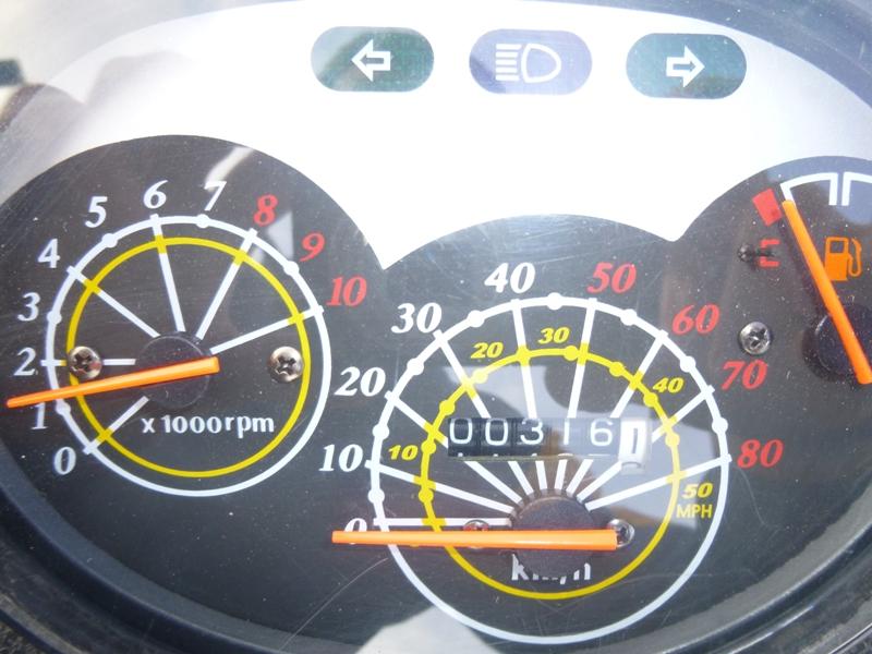 Двигатель работает - примерно 1200 оборотов в минуту